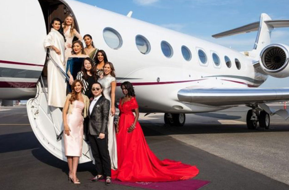 Qatar Airways hosts exclusive fashion show on board Qatar Executive G650 jet