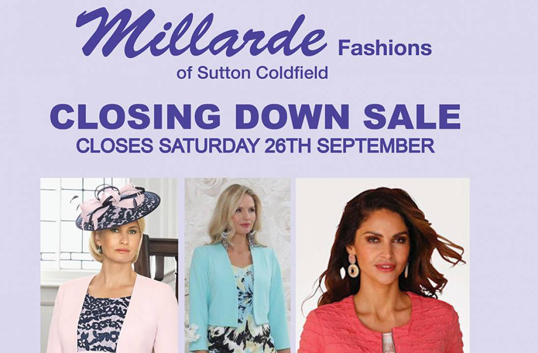 Millarde Fashions of Sutton Coldfield To Close