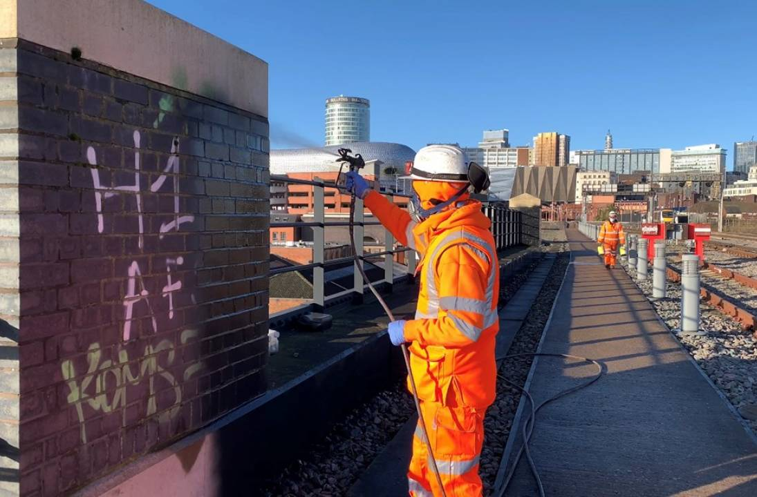 Graffiti clean-up teams blitz railway over Christmas